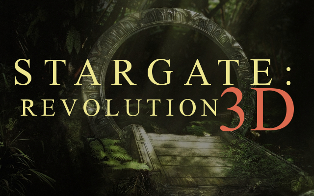 STARGATE REVOLUTION THEATRICAL 3D MOVIE POSTER