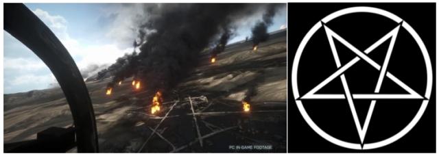 satanic symbol in battlefield 3
